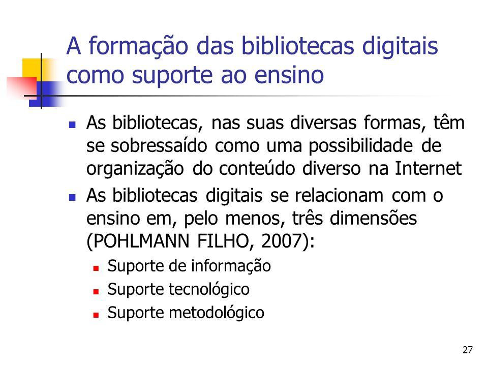 A formação das bibliotecas digitais como suporte ao ensino