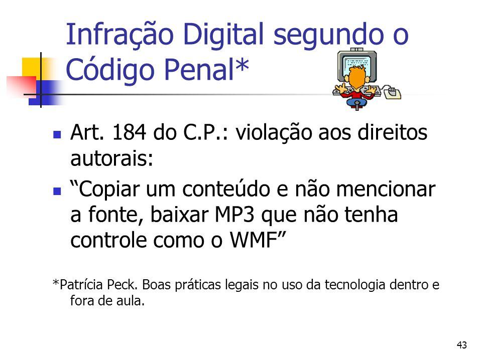 Infração Digital segundo o Código Penal*