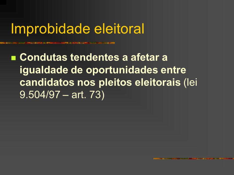 Improbidade eleitoral