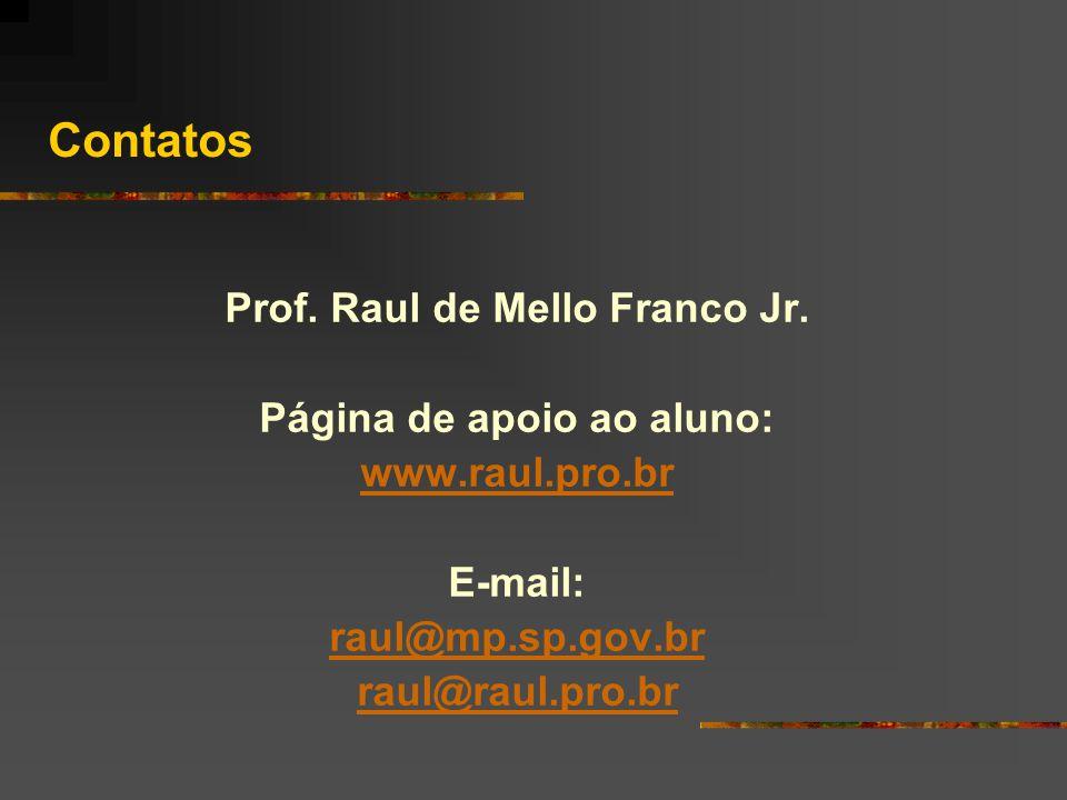 Prof. Raul de Mello Franco Jr. Página de apoio ao aluno: