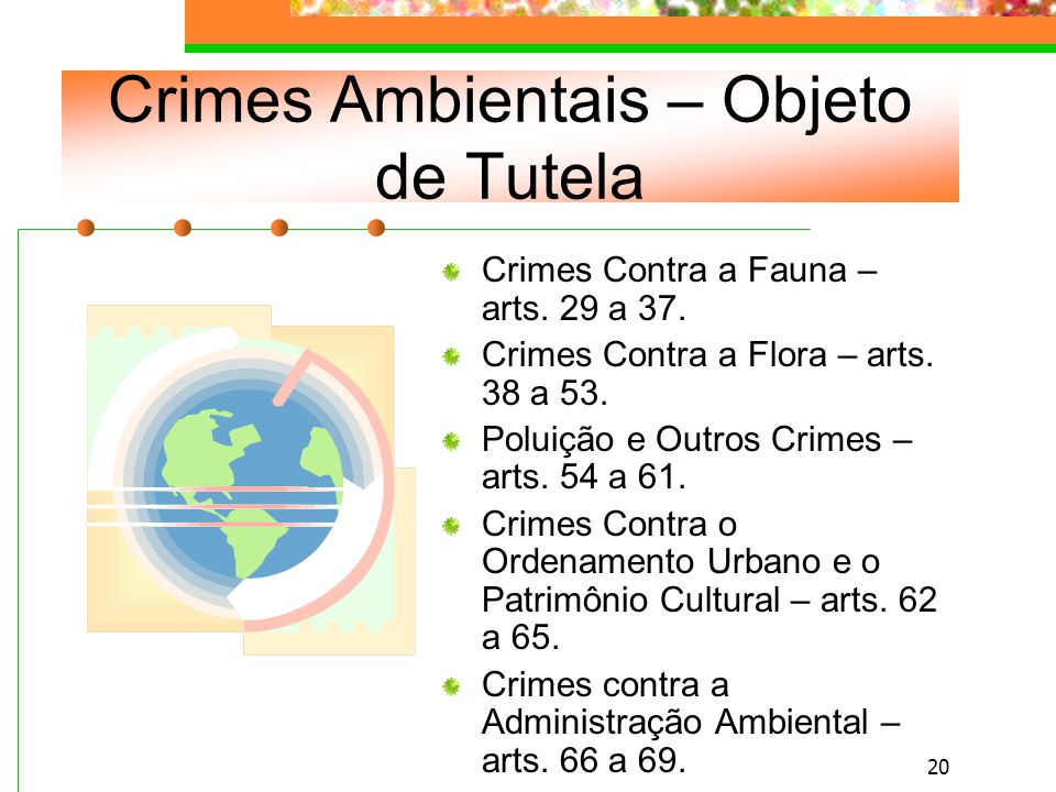 Crimes Ambientais – Objeto de Tutela