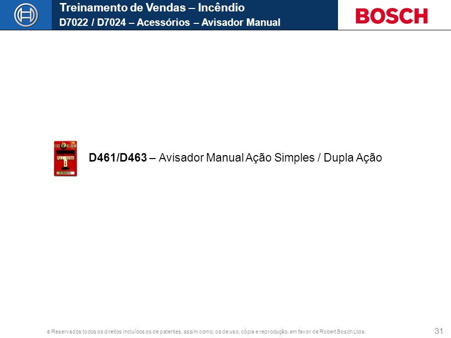 Treinamento de Vendas – Incêndio D7022 / D7024 – Acessórios – Avisador Manual