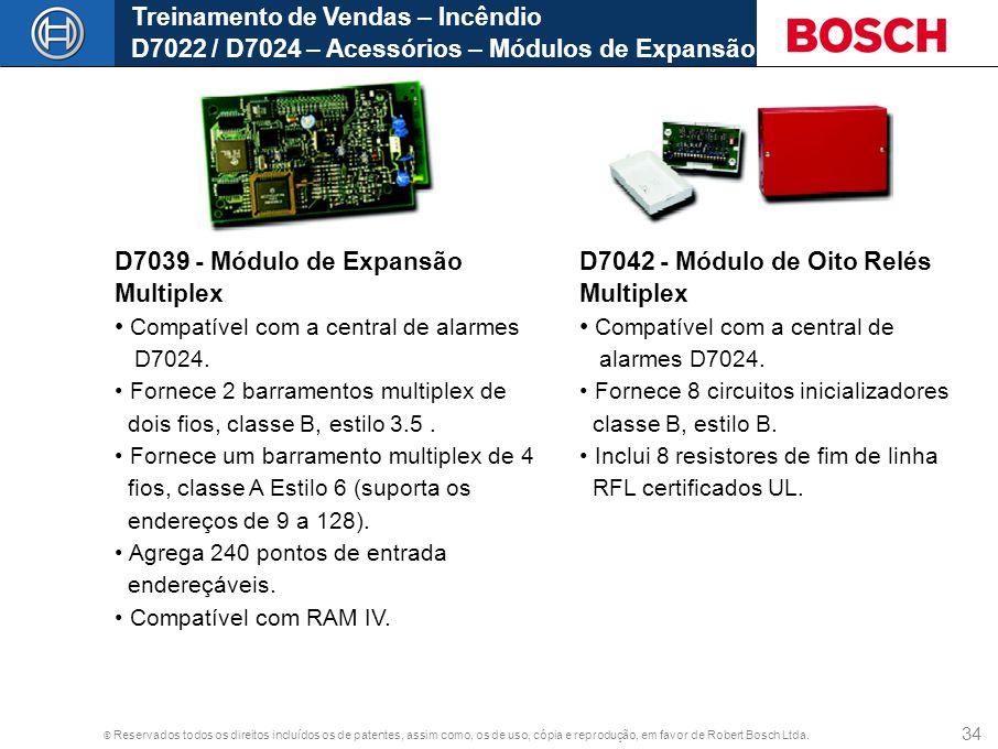 D7039 - Módulo de Expansão Multiplex