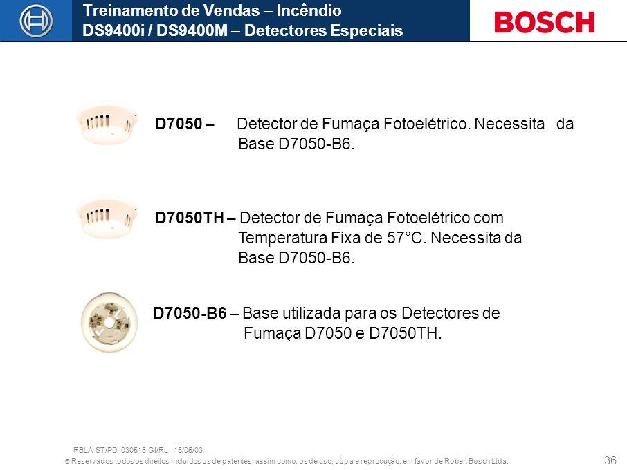 D7050 – Detector de Fumaça Fotoelétrico. Necessita da Base D7050-B6.