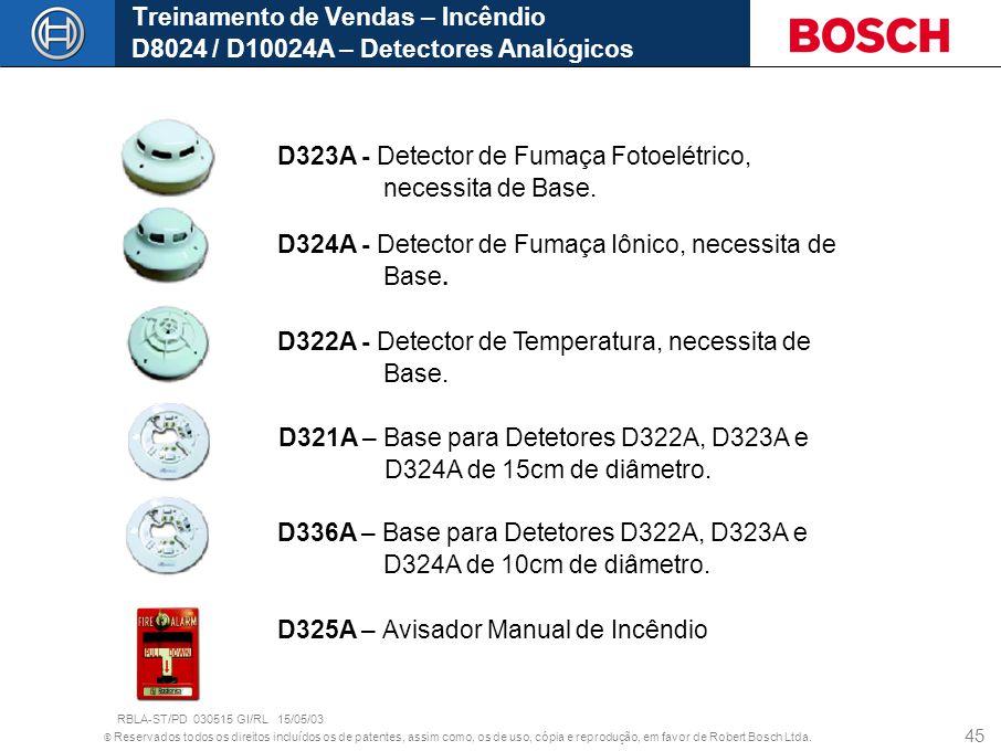 D323A - Detector de Fumaça Fotoelétrico, necessita de Base.