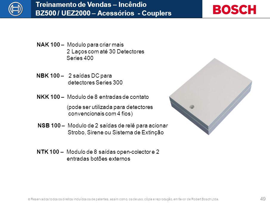 Treinamento de Vendas – Incêndio BZ500 / UEZ2000 – Acessórios - Couplers