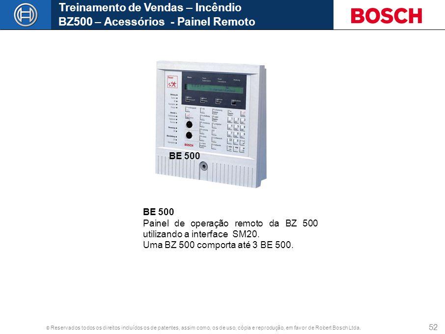 Treinamento de Vendas – Incêndio BZ500 – Acessórios - Painel Remoto