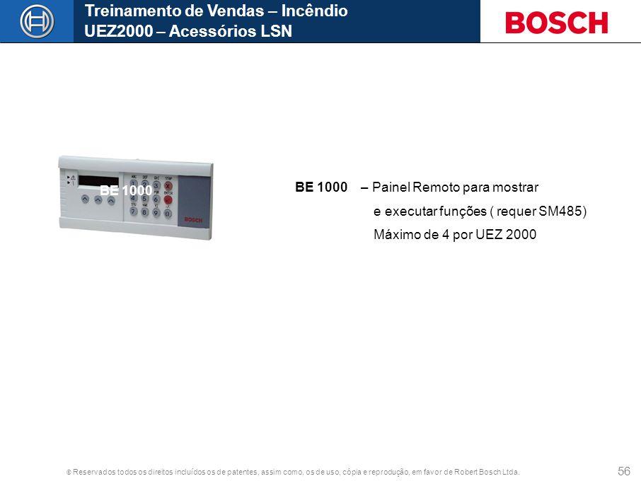 Treinamento de Vendas – Incêndio UEZ2000 – Acessórios LSN