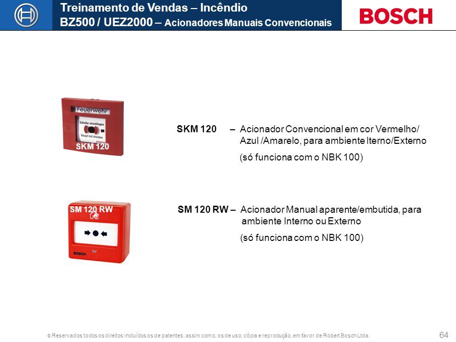 Treinamento de Vendas – Incêndio BZ500 / UEZ2000 – Acionadores Manuais Convencionais