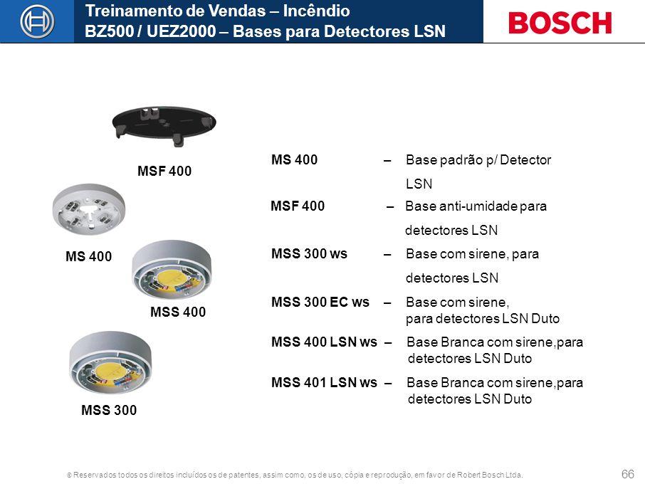 Treinamento de Vendas – Incêndio BZ500 / UEZ2000 – Bases para Detectores LSN