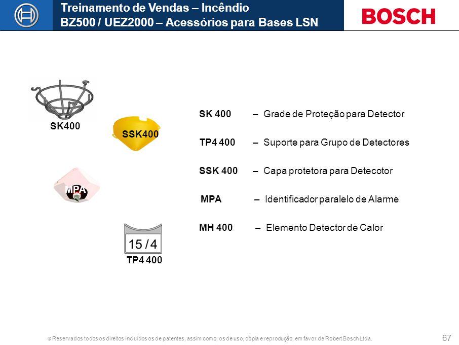 Treinamento de Vendas – Incêndio BZ500 / UEZ2000 – Acessórios para Bases LSN