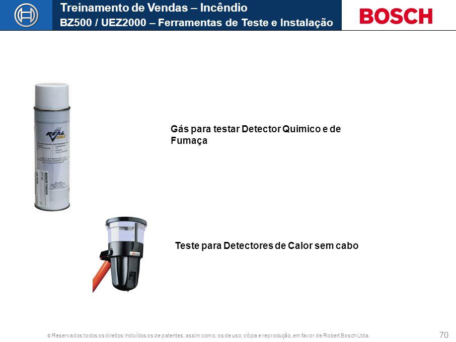 Treinamento de Vendas – Incêndio BZ500 / UEZ2000 – Ferramentas de Teste e Instalação
