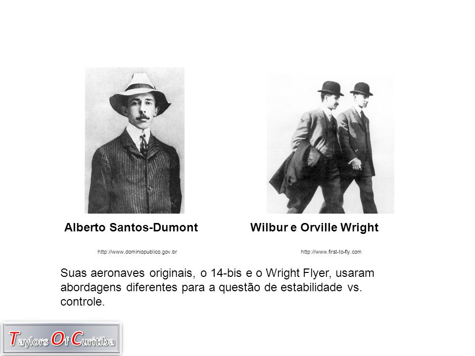 Alberto Santos-Dumont Wilbur e Orville Wright