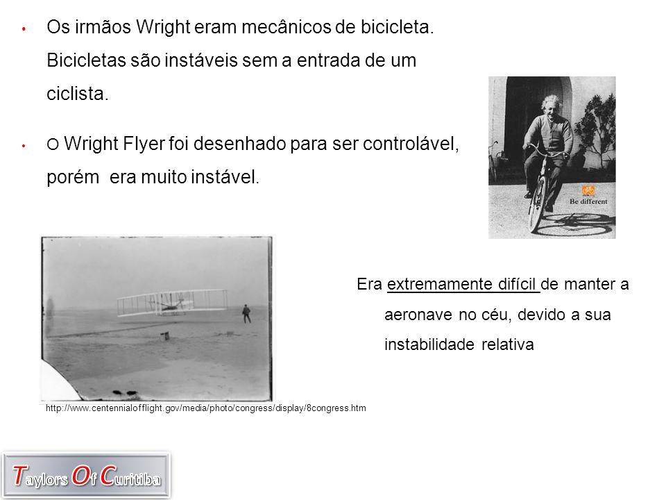 Os irmãos Wright eram mecânicos de bicicleta
