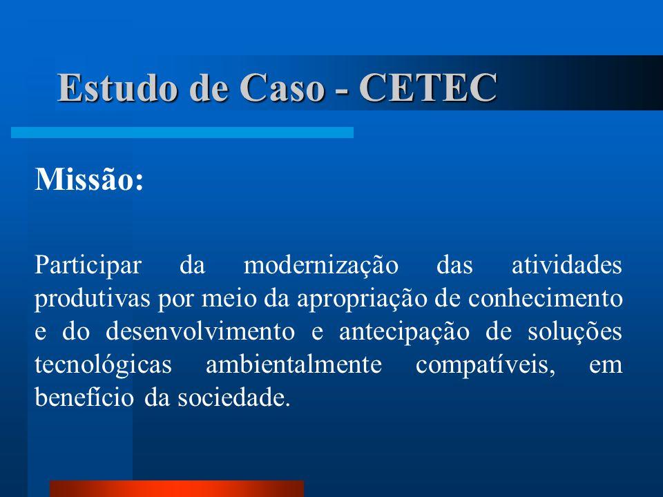 Estudo de Caso - CETEC Missão: