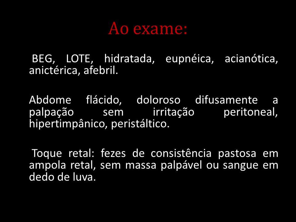 Ao exame: