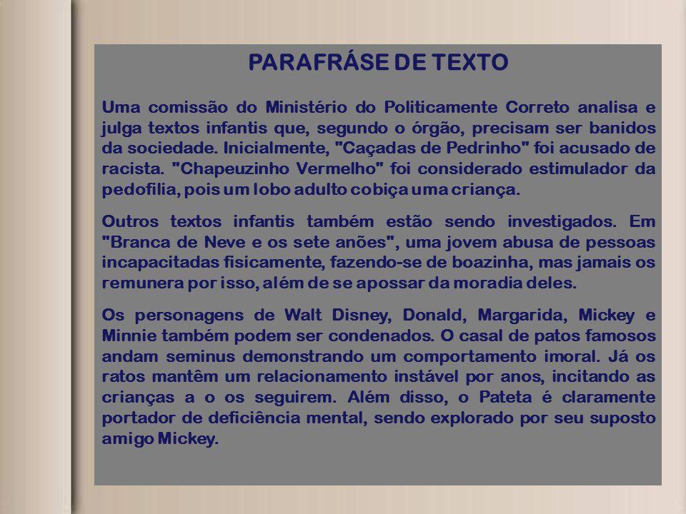 PARAFRÁSE DE TEXTO