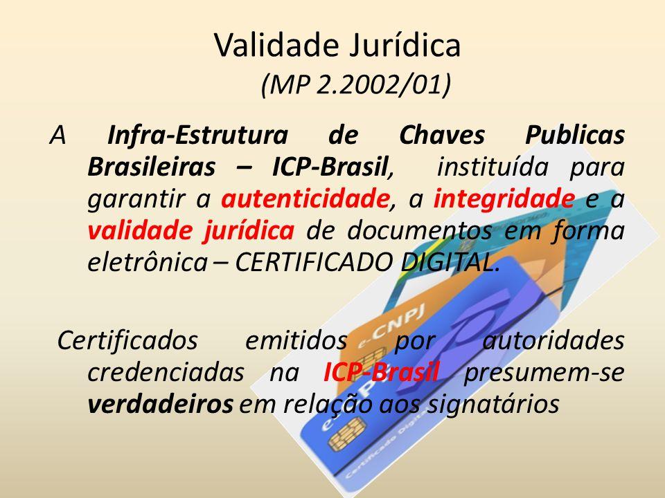 Validade Jurídica (MP 2.2002/01)