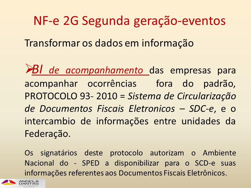 NF-e 2G Segunda geração-eventos