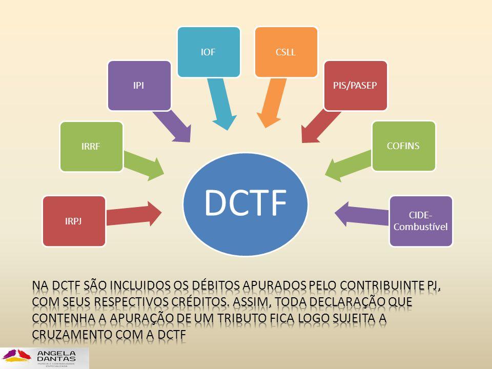 DCTF IRPJ. IRRF. IPI. IOF. CSLL. PIS/PASEP. COFINS. CIDE-Combustível.