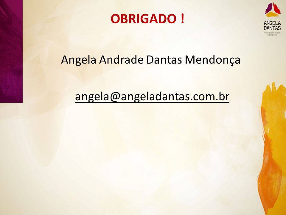Angela Andrade Dantas Mendonça angela@angeladantas.com.br