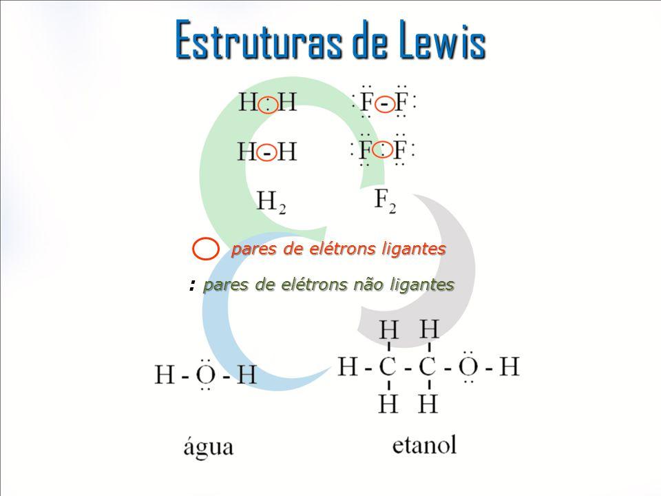 Estruturas de Lewis : pares de elétrons ligantes