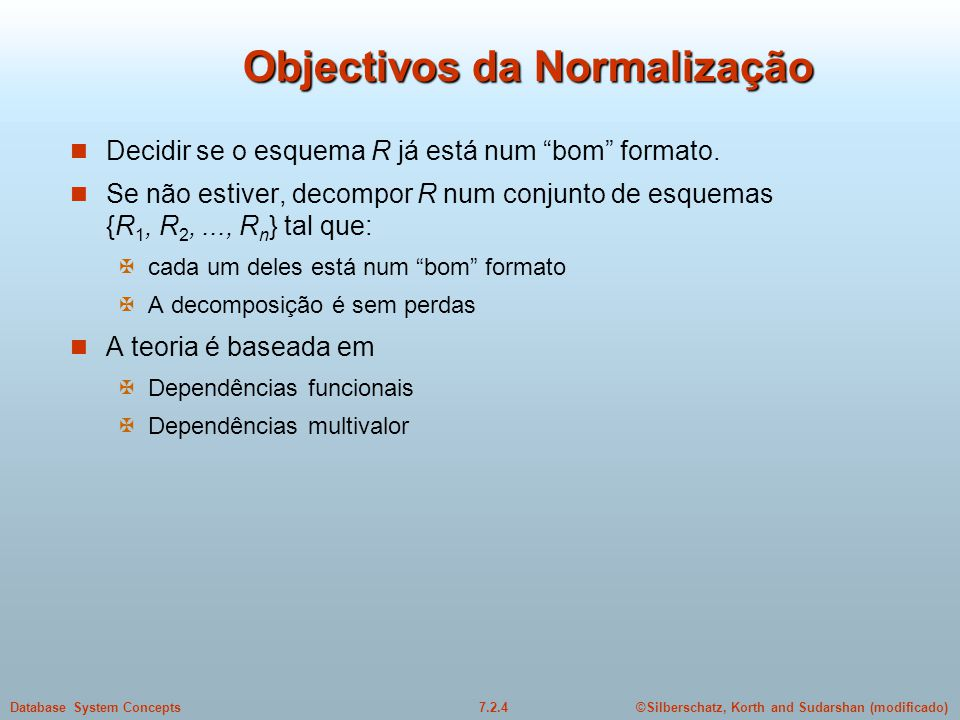 Objectivos da Normalização