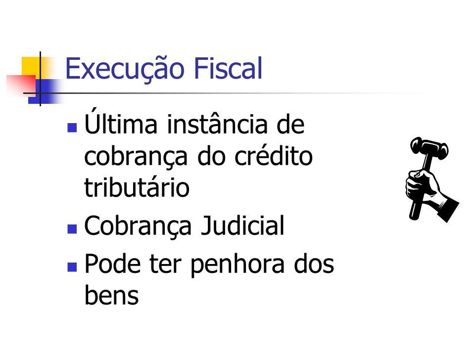 Execução Fiscal Última instância de cobrança do crédito tributário