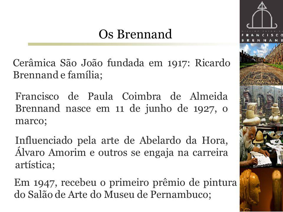 Os Brennand Cerâmica São João fundada em 1917: Ricardo Brennand e família;
