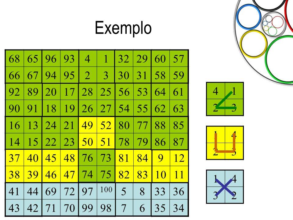 Exemplo 68. 65. 66. 67. 96. 93. 94. 95. 4. 1. 2. 3. 32. 29. 30. 31. 60. 57. 58. 59.