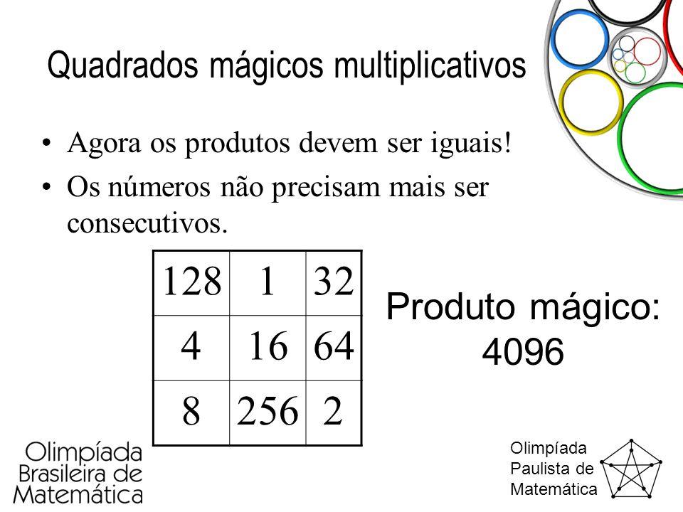 Quadrados mágicos multiplicativos
