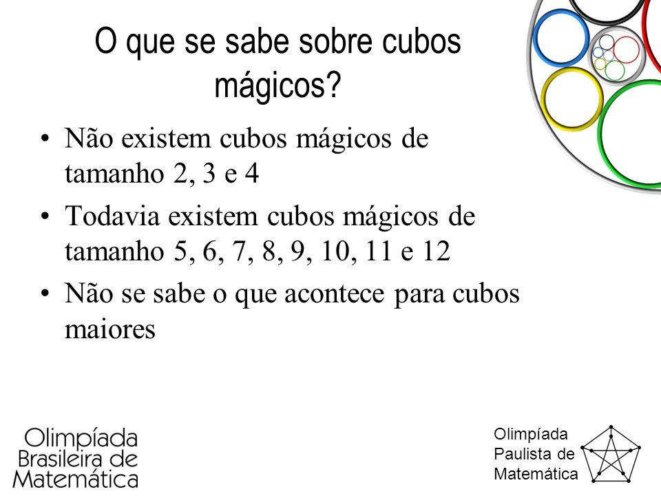 O que se sabe sobre cubos mágicos