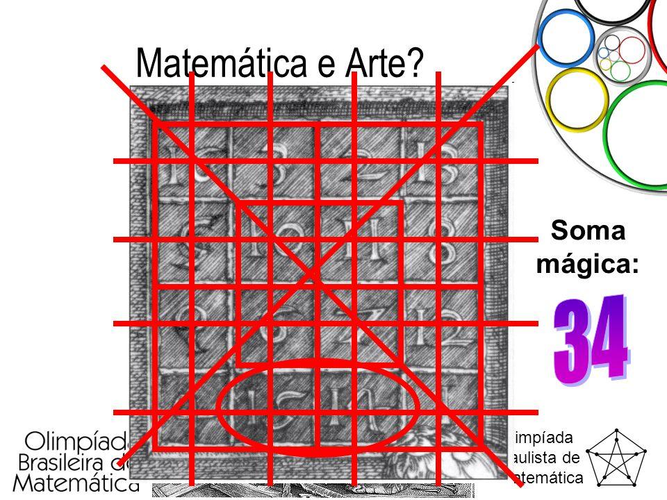 Matemática e Arte Soma mágica: 34