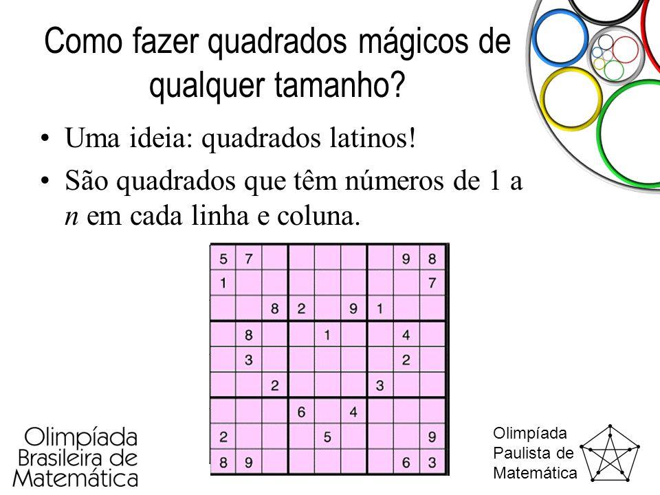 Como fazer quadrados mágicos de qualquer tamanho