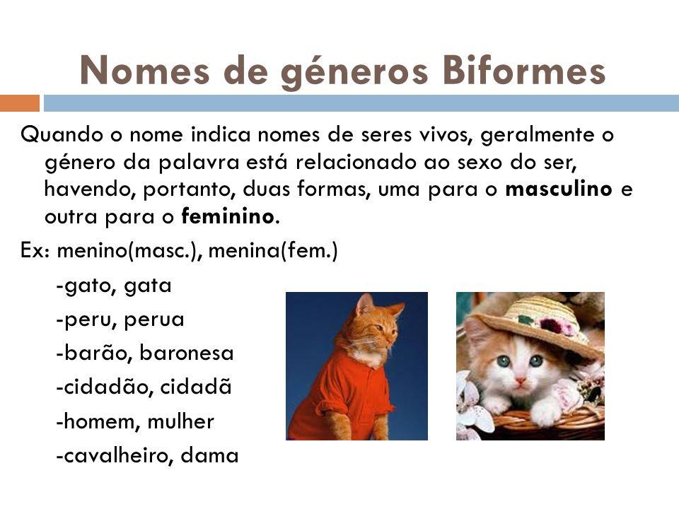 Nomes de géneros Biformes