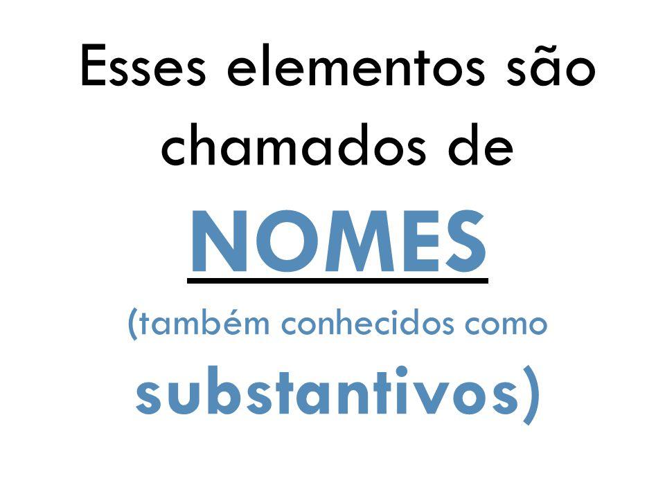 Esses elementos são chamados de NOMES