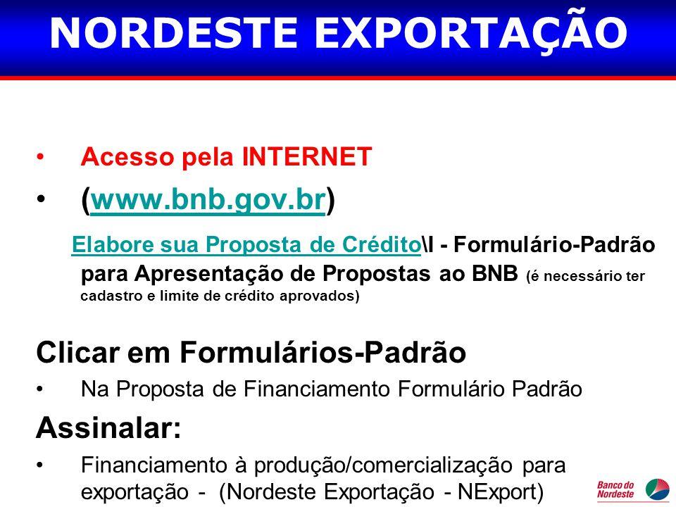 NORDESTE EXPORTAÇÃO (www.bnb.gov.br)