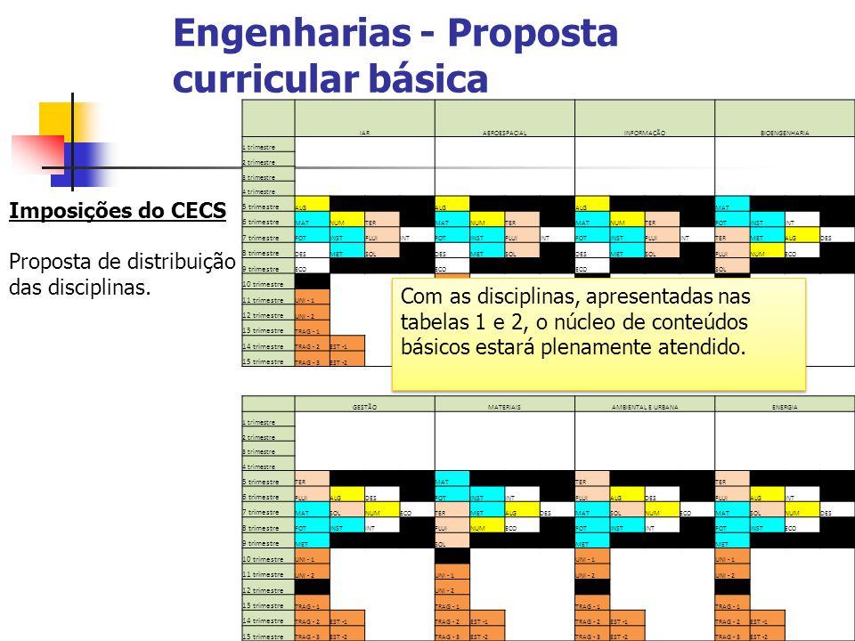 Engenharias - Proposta curricular básica