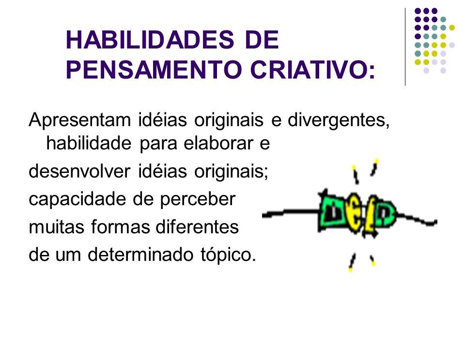 HABILIDADES DE PENSAMENTO CRIATIVO: