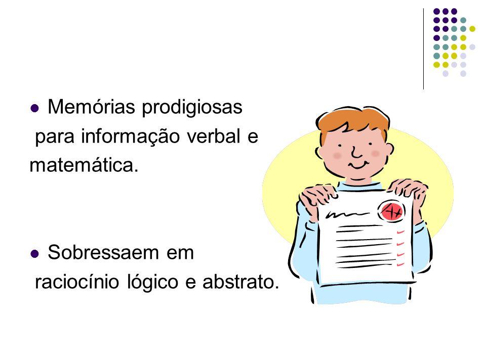 Memórias prodigiosas para informação verbal e. matemática.
