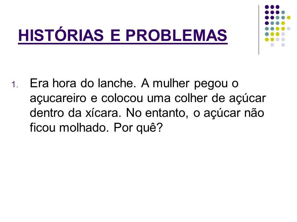 HISTÓRIAS E PROBLEMAS