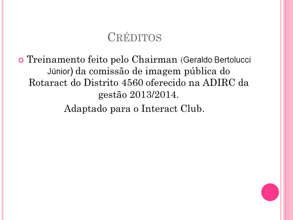 Adaptado para o Interact Club.