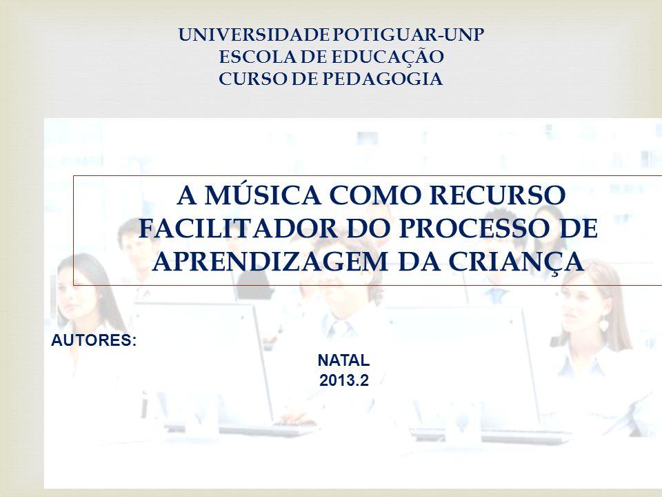 UNIVERSIDADE POTIGUAR-UNP ESCOLA DE EDUCAÇÃO CURSO DE PEDAGOGIA