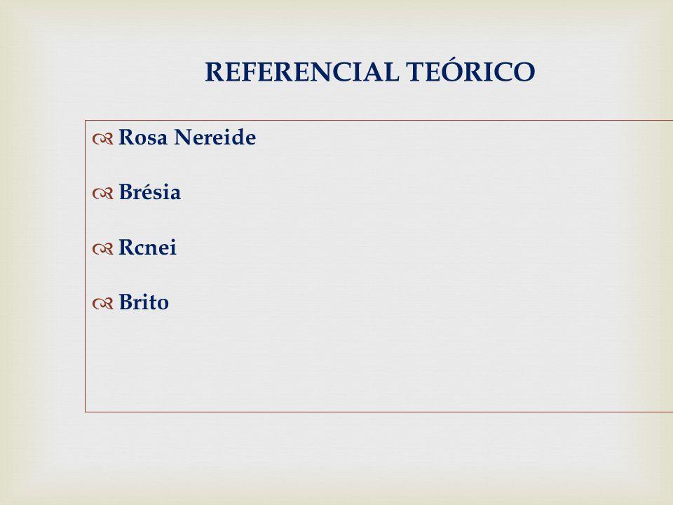 REFERENCIAL TEÓRICO Rosa Nereide Brésia Rcnei Brito