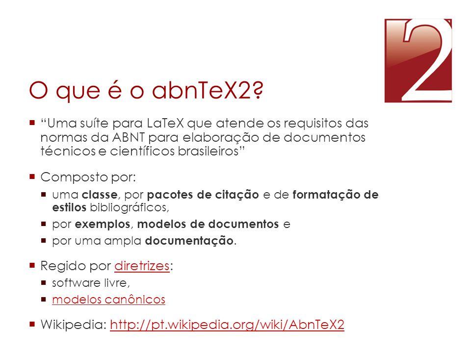 O que é o abnTeX2