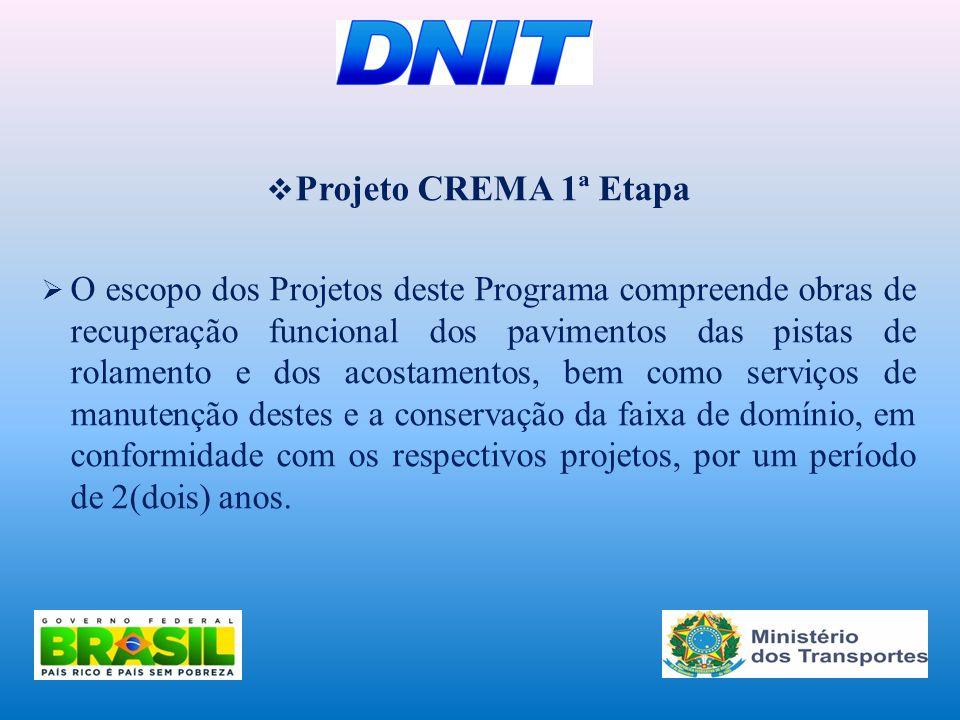 Projeto CREMA 1ª Etapa
