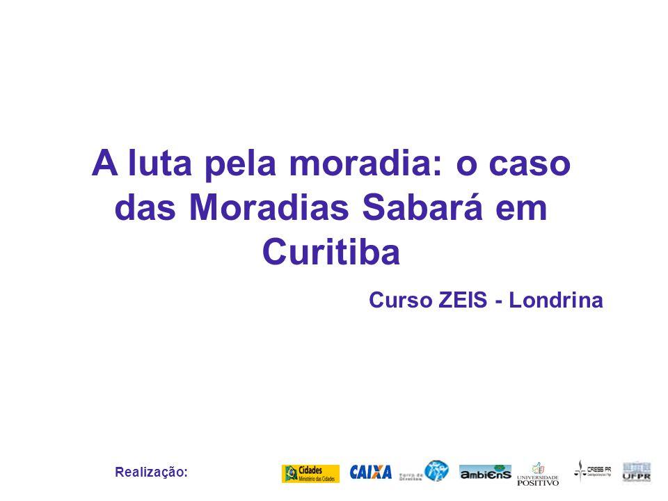 A luta pela moradia: o caso das Moradias Sabará em Curitiba