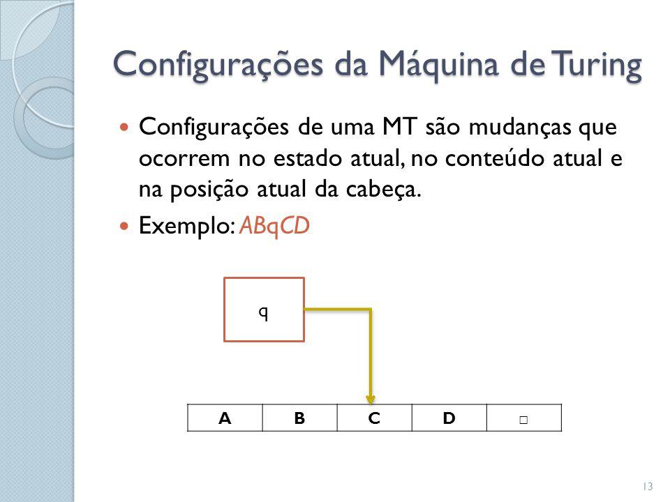 Configurações da Máquina de Turing