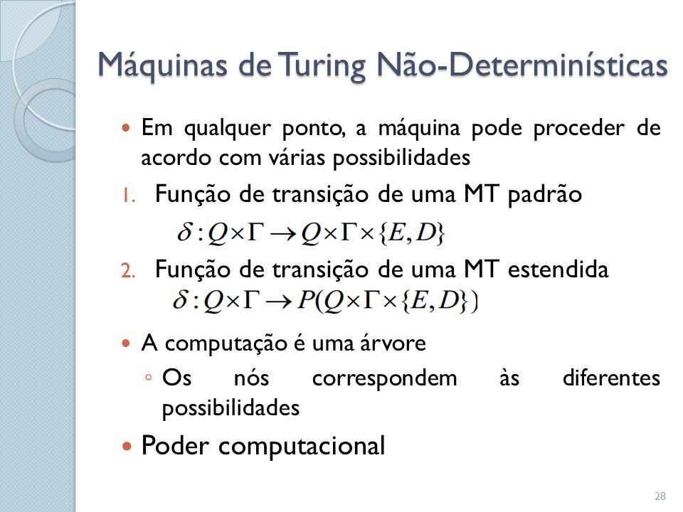 Máquinas de Turing Não-Determinísticas