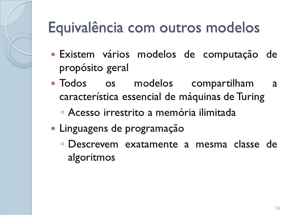 Equivalência com outros modelos